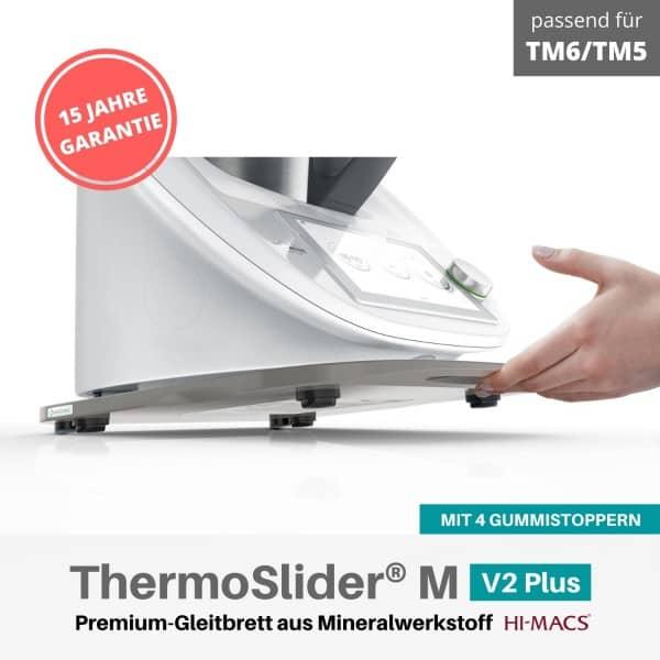 ThermoSlider® M |V2 Plus | Steel Grey | Premium-Gleitbrett für Thermomix TM6/TM5