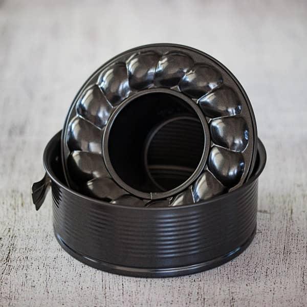 Springform für Varoma | 2 Böden | black metallic | Ideal für Thermomix TM6/TM5/TM31